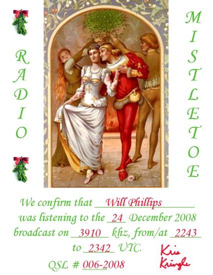 Radio Mistletoe QSL