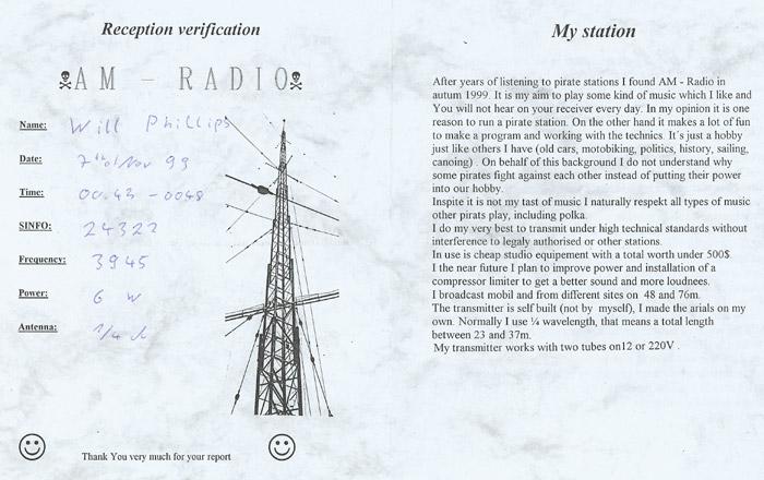 AM Radio QSL