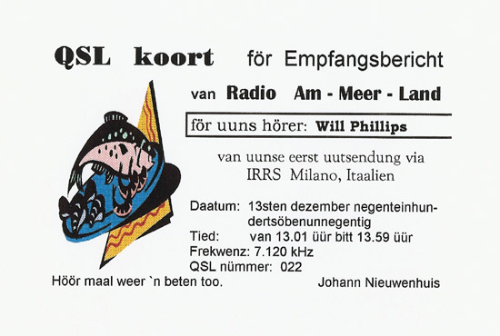 Radio Am-Meer-Land QSL