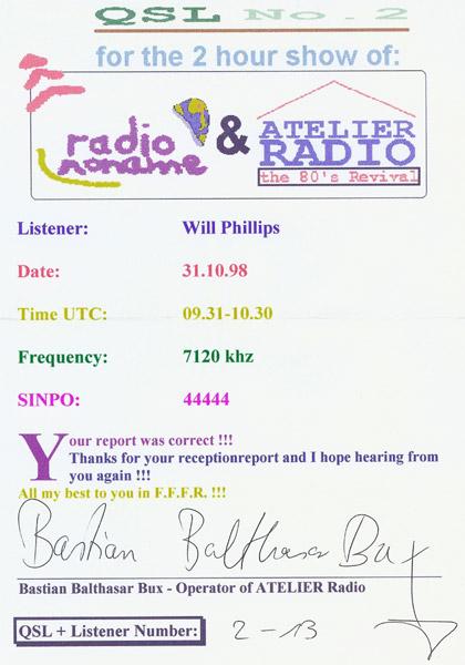 Atelier Radio QSL