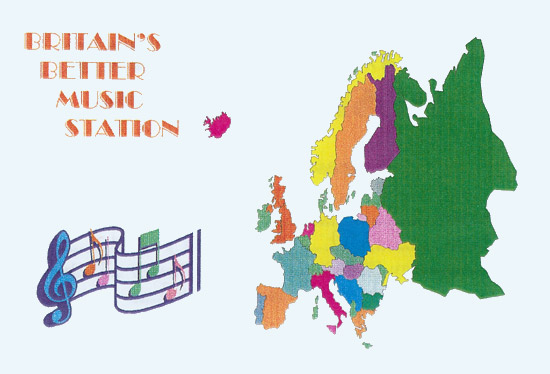 Britain's Better Music Station QSL