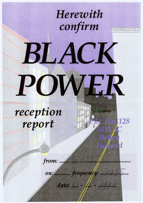 Radio Black Power QSL