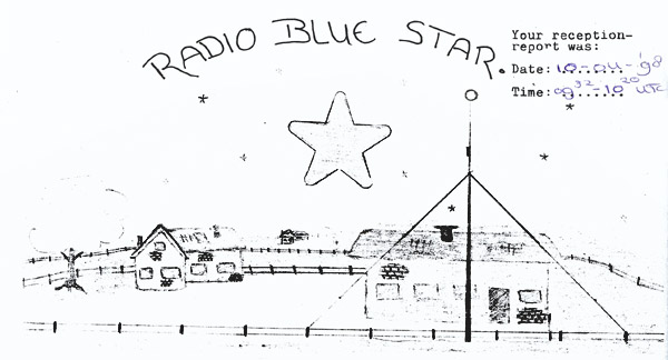 Radio Blue Star QSL