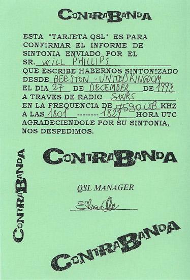 Contra Banda QSL