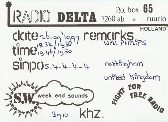 Radio Delta QSL