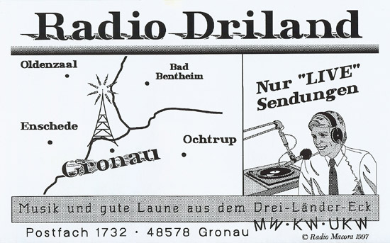 Radio Driland QSL
