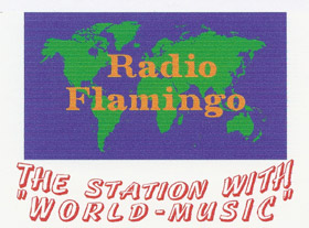 Radio Flamingo sticker