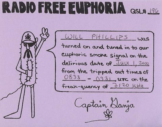 Radio Free Euphoria QSL