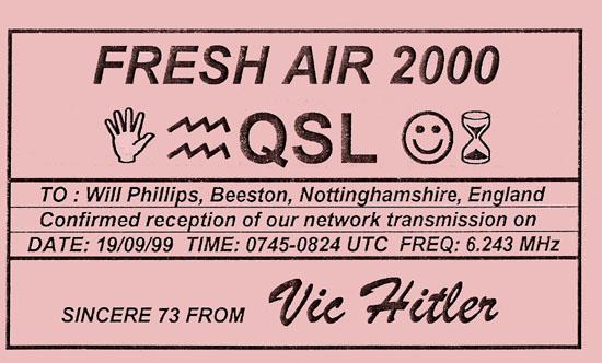 Fresh Air 2000 QSL