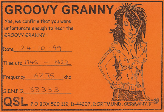 Groovy Granny QSL