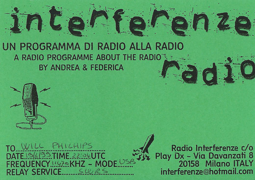 Interferenze Radio QSL