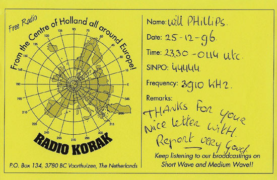 Radio Korak International QSL