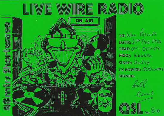 Livewire Radio QSL