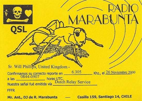 Radio Marabunta QSL