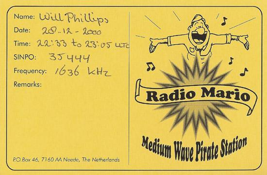 Radio Mario QSL