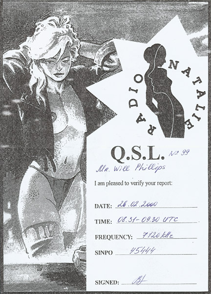 Radio Natalie QSL