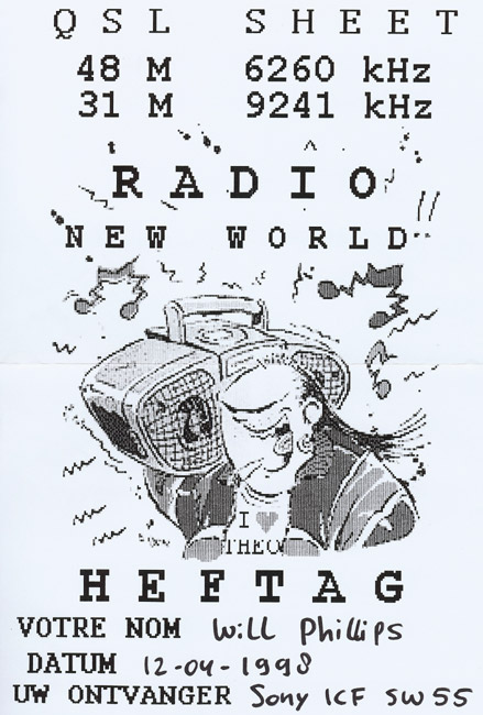 Radio New World QSL