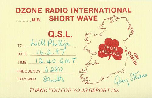 Ozone International QSL