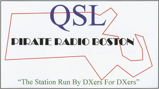 Pirate Radio Boston QSL