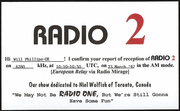 Radio 2 QSL