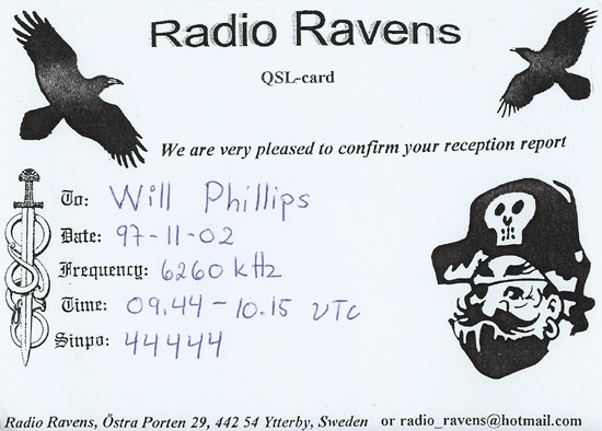 Radio Ravens QSL