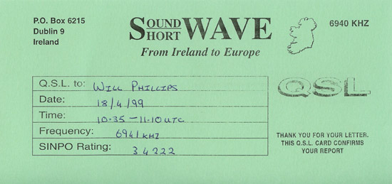 Soundwave Radio QSL