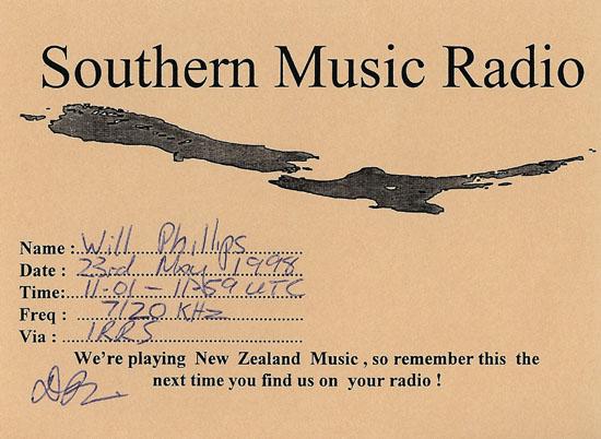 Southern Music Radio QSL