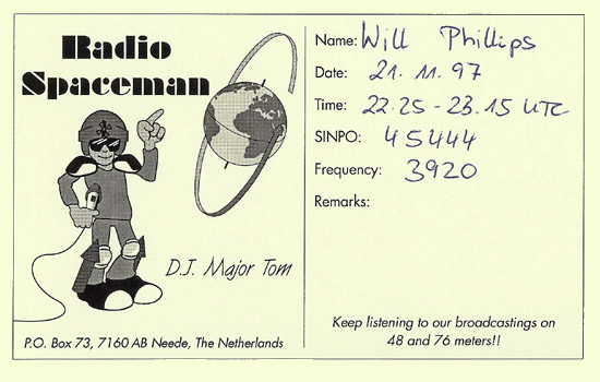 Radio Spaceman QSL