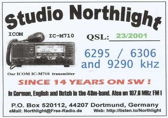 Studio Northlight QSL