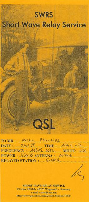 SWRS QSL