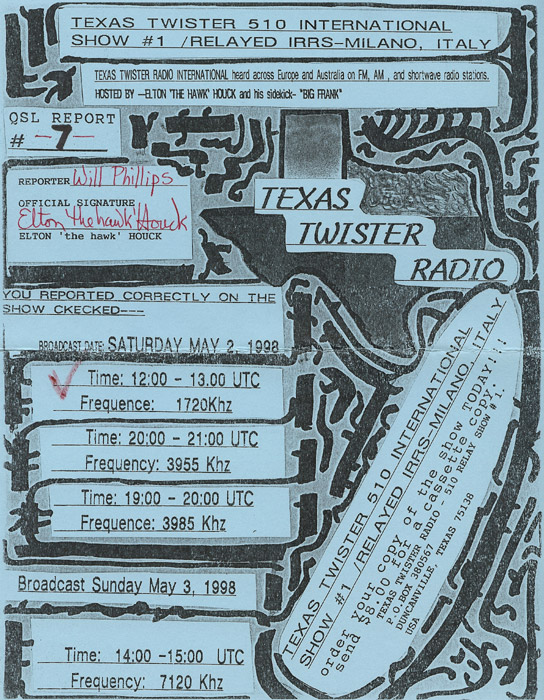 Texas Twister Radio QSL