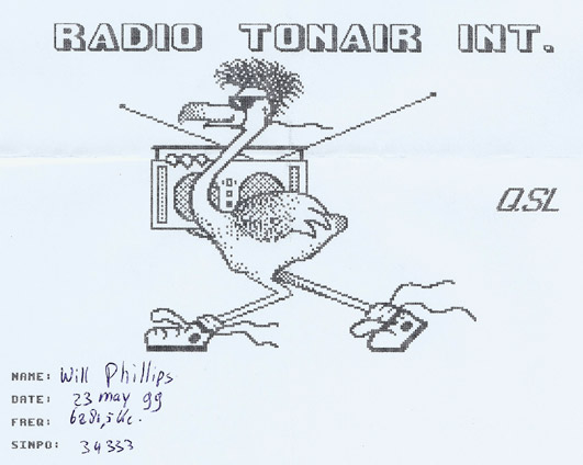Radio Tonair QSL