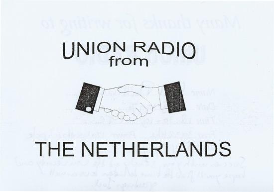 Union Radio QSL
