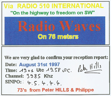 Radio Waves International QSL