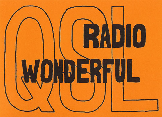 Radio Wonderful QSL