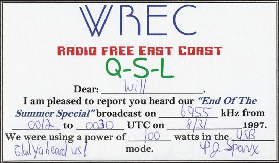 WREC QSL