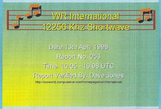 WR International QSL