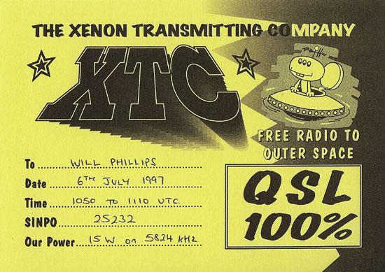 Xenon Transmitting Company QSL