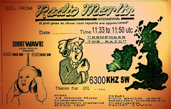 Radio Merlin QSL